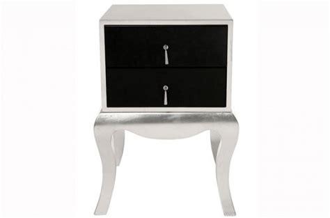 chevet baroque argent et noir luxury tables de chevets
