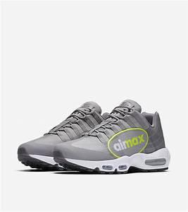 nike air max 95 quotbig logoquot dust volt aj7183 001 shoe With nike air max big letters