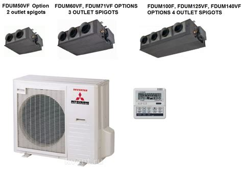 Mitsubishi Heat Pumps Prices by Mitsubishi Fdumvf Ducted Air Conditioning Heat