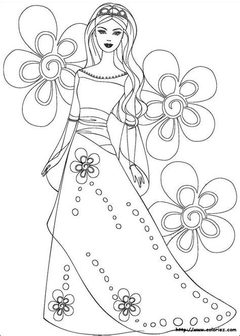 Barbie la principessa e la povera da colorare mondo bimbo. Barbie   Libri da colorare, Pagine da colorare, Fiori ...