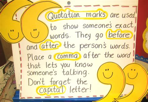 dialogue  quotation marks  warners learning