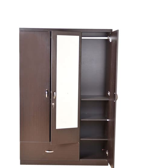 3 Door Wardrobe by Hometown Utsav 3 Door Wardrobe With Mirror Buy At