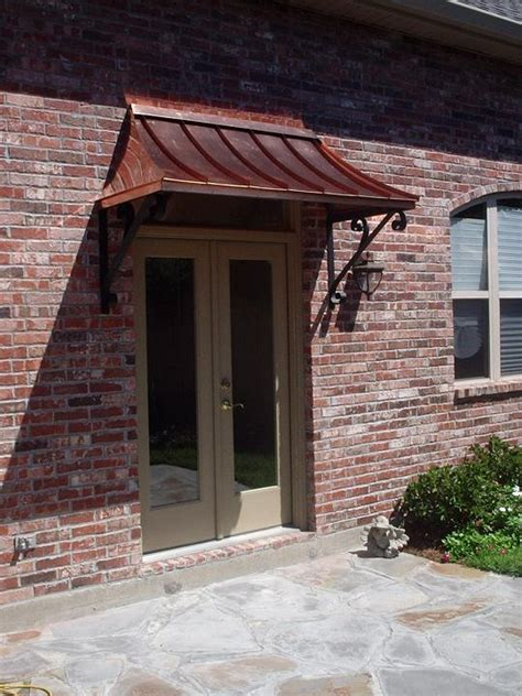 Entry Door Awning by The Juliet Gallery Copper Awnings Projects Gallery