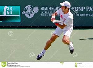 Novak Djokovic At The 2010 BNP Paribas Open Editorial ...