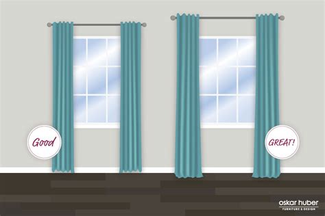 window curtain lengths 9 secrets to hanging curtains like a pro oskar huber