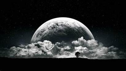 Moon Dark Night Clouds Wallpapers Desktop Backgrounds
