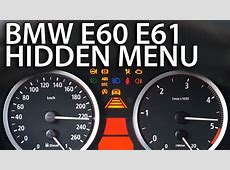 How to enter hidden menu in BMW E60 E61 OBC diagnostic