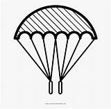 Parachute Coloring Drawing Clipartkey sketch template