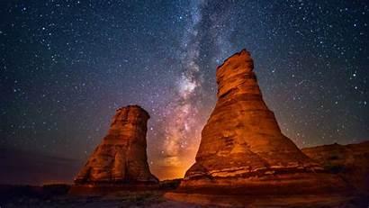Starry Night Wallpapers Milky Way Desert Galaxy