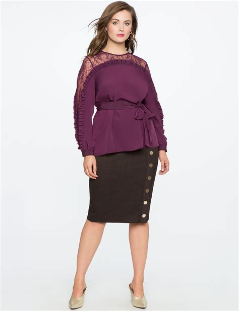 wash and wear hair styles button plaid pencil skirt s plus size skirts 2253
