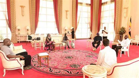 Photos: Kanye West meets Uganda President Museveni - Prime ...