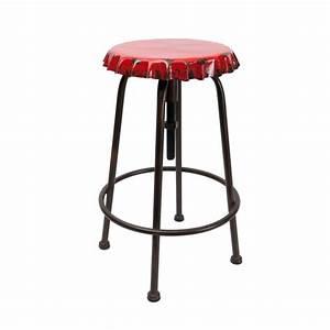 Tabouret De Bar Retro : tabouret vintage soda rouge en fer 30x63cm achat vente tabouret fer cdiscount ~ Teatrodelosmanantiales.com Idées de Décoration