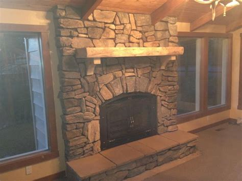 rustic creations  cultured stone fireplace