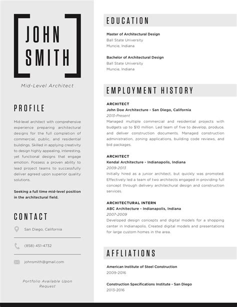 Resume Samples for Architect in the Philippines
