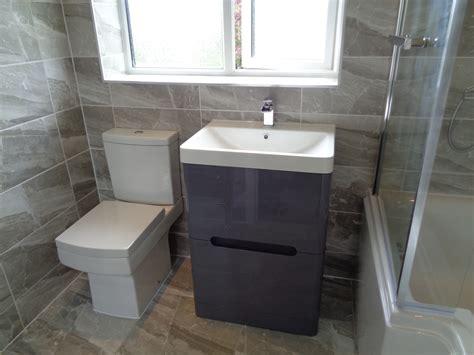 refitting bathroom  stratford  avon  grey theme