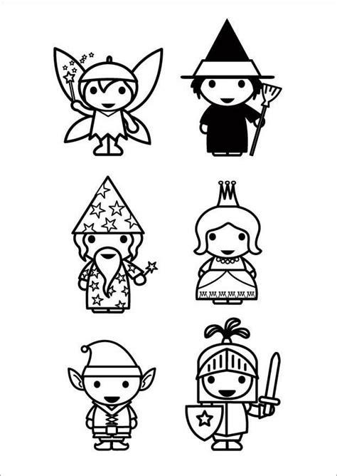 coloriage personnages de contes de fees coloriages gratuits  imprimer dessin