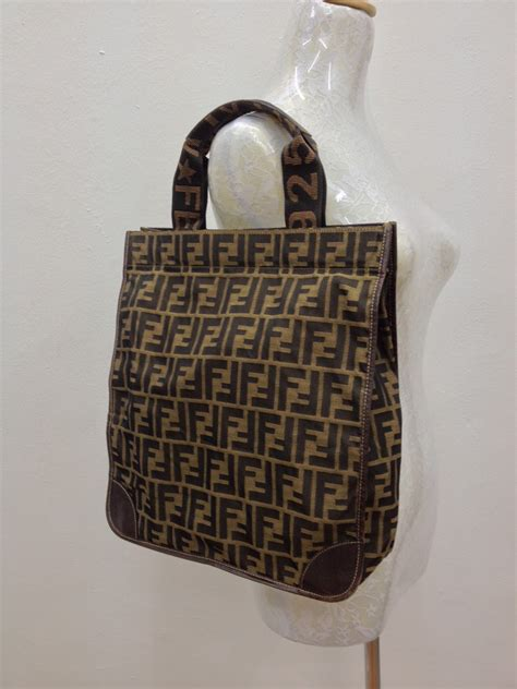 d0rayakEEbaG: Authentic Fendi Zucca Tote Bag(SOLD)