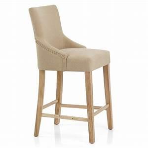 Chaise De Bar Bois : chaise de bar tissu bois magna monde du tabouret ~ Dailycaller-alerts.com Idées de Décoration