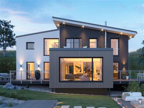 Moderne Häuser Schweden by Einfamilienhaus Architektur Modern Mit Pultdach Versetzt