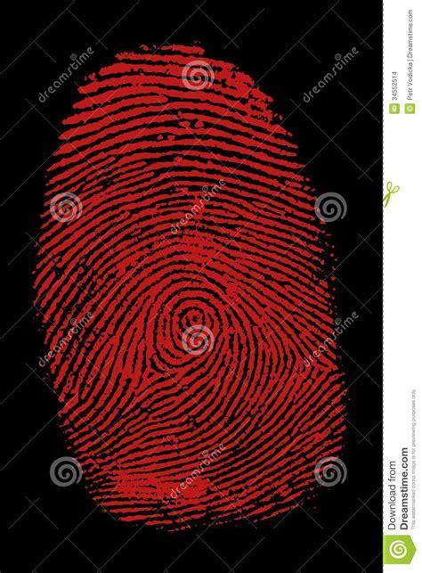 bloody fingerprint stock images image