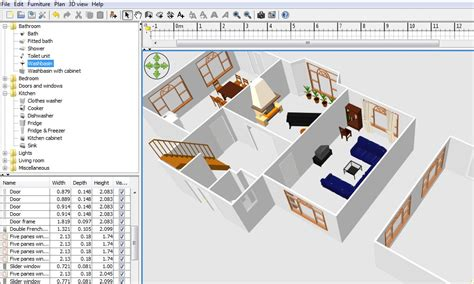 Floor Plan Software Online by Free Floor Plan Software Sweethome3d Review