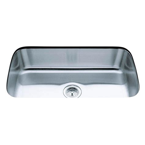 single basin kitchen sink kohler undertone undercounter undermount stainless steel