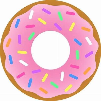 Donut Clip Cartoon Clipart Strawberry Calendar Template