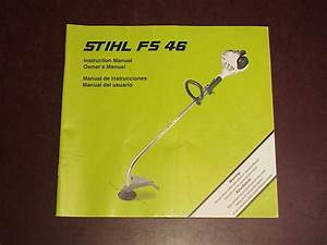 Stihl String Trimmer Owners Instruction Operator Manual