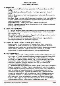 Terms and conditions templates to write polices for your for Po terms and conditions template