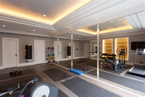 3 mirror wall with home gym home gym contemporary and