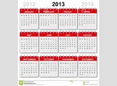 Kalender 2013, englisch stock abbildung Bild von graphik