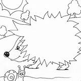 Hedgehog Coloring Colouring Pages Simple Animal Printable Hedgehogs Easy Print Sheets Cute Egel Colors Sheet Herfst Autumn Szinez� Herisson Baby sketch template