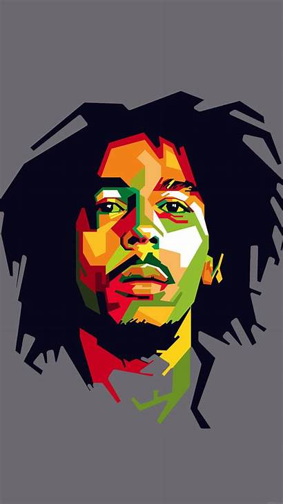 Marley Bob Reggae Celebrity Illust Iphone Papers