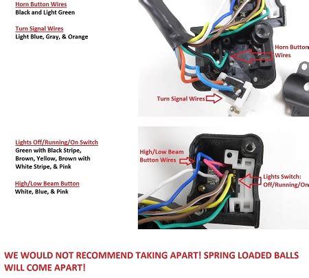 Honda Motorcycle Handlebar Wiring by Honda Handlebar Switch Headlight Horn Turn Signal 7 8