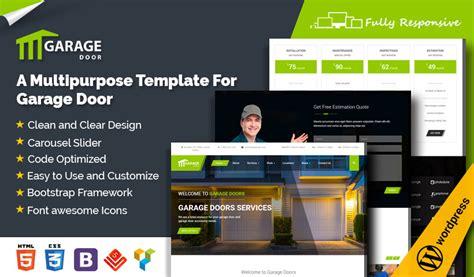 Garage Door Wordpress Theme  Garage Door Website Template