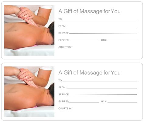 This printable gift card featuring a candle, salts, and oil is redeemable for a free massage. 5 Best Images of Printable Massage Gift Certificate Template - Free Printable Massage Gift ...