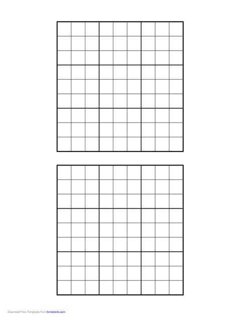 printable sudoku grids   templates   word