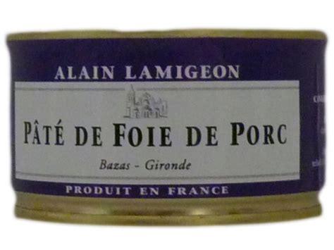 pate de foie de porc maison p 226 t 233 de foie de porc 135g lamigeon conserverie fond 233 e en 1945