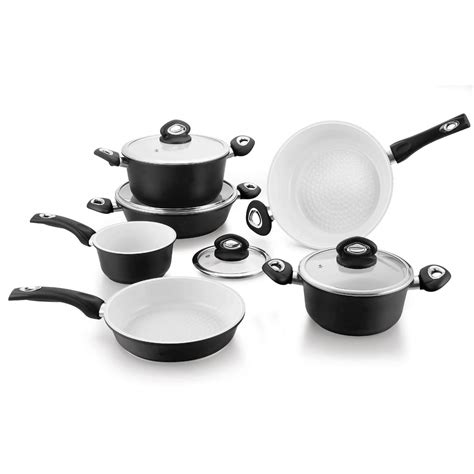 pcs top quality home kitchen forged aluminum ceramic cookware set