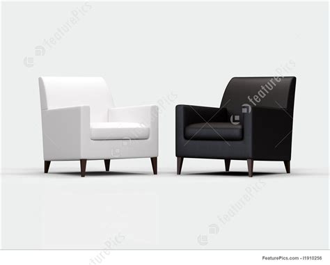 Black And White Armchair Illustration