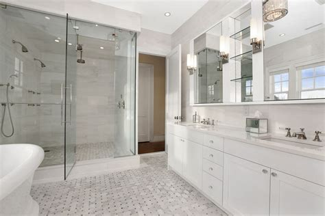 white master bathroom ideas white marble bathroom transitional bathroom carole