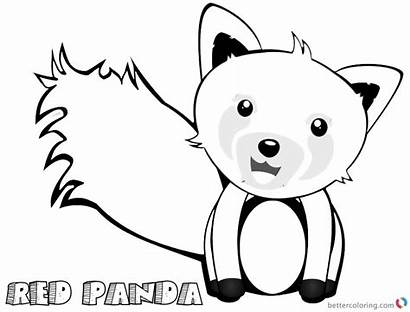 Panda Coloring Pages Clip Printable Adults