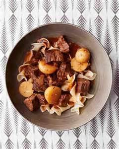 Beef Goulash with Egg Noodles