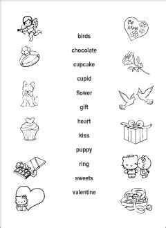 valentines day vocabulary  kids learning english