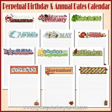 Birthday And Anniversary Calendar Template by Yearly Birthday Calendar Weekly Calendar Template