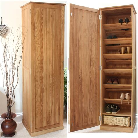 hallway cabinets storage conran solid oak furniture shoe cupboard cabinet tall hallway storage unit ebay