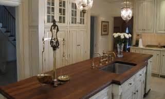 countertops for kitchen islands walnut wood kitchen island countertop with sink by grothouse traditional kitchen countertops