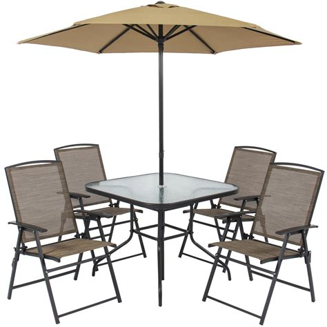 4 chair table set best choice products 6pc outdoor folding patio dining set
