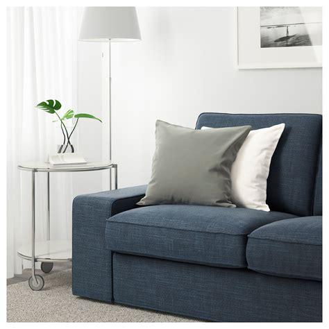 kivik two seat sofa hillared dark blue ikea