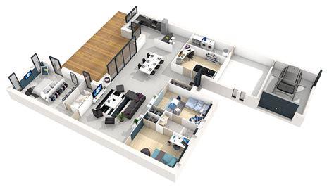 plan de maison plein pied gratuit 3 chambres plan maison plain pied 3 chambres 100m2 modle